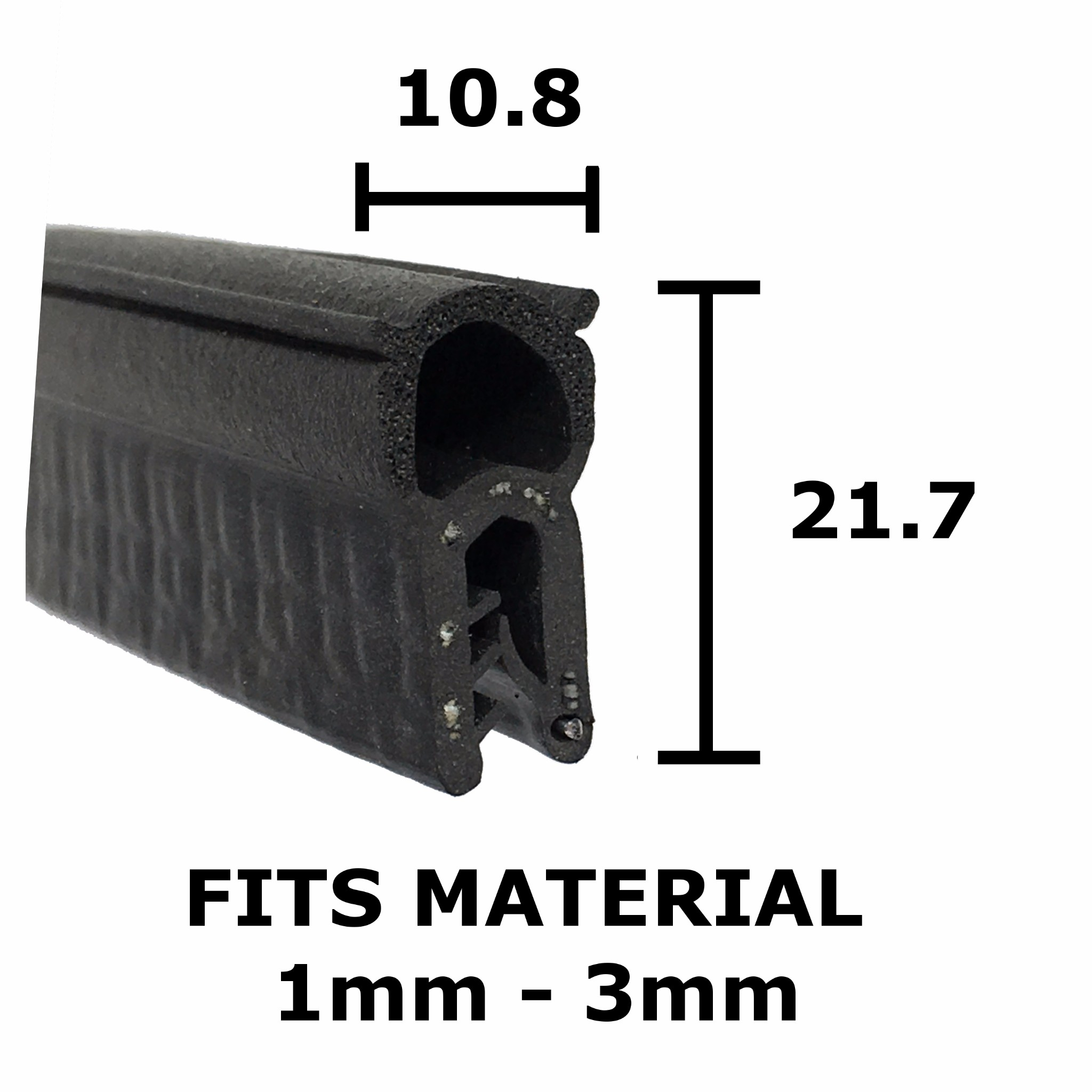 Small finned boot seal