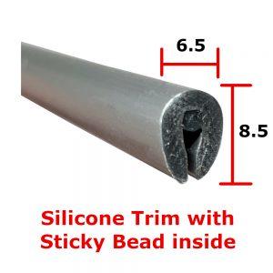 Silver Silicone Edge Trim