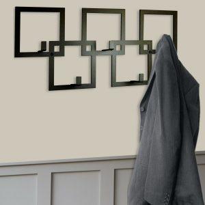 Black Squares Coat Rack