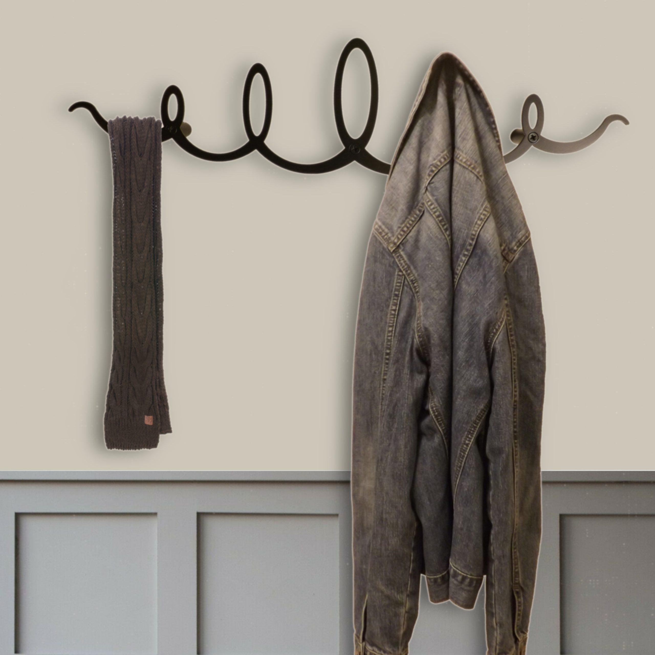 Black Squiggle Coat Rack