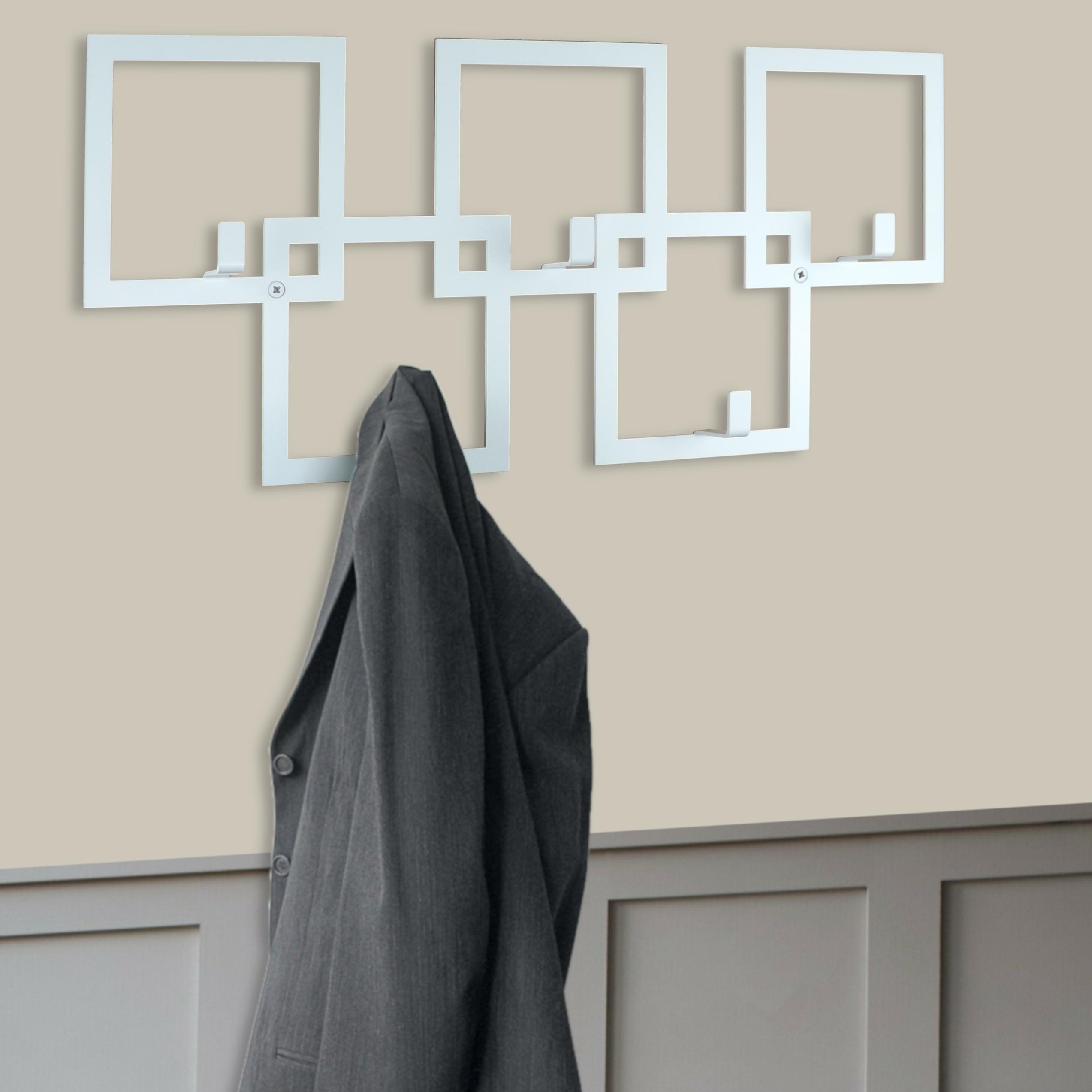 White Squares Coat Rack