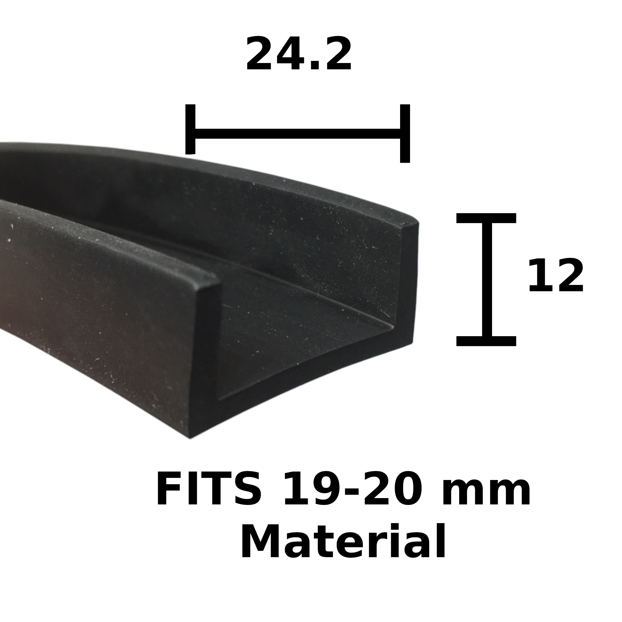 U channel edge trim