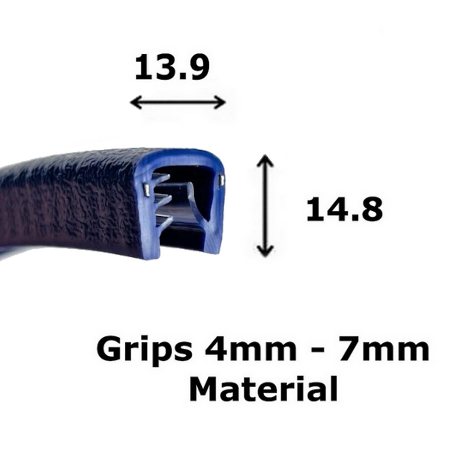 Super Large Edge Trim Blue